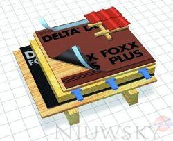 membrana wysokoparoprzepuszczalna z paskiem klej cym 270 g m2 delta foxx plus dorken delta. Black Bedroom Furniture Sets. Home Design Ideas